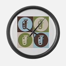 Tuba Pop Art Large Wall Clock