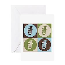 Tuba Pop Art Greeting Card
