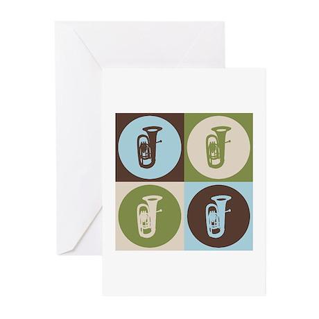 Tuba Pop Art Greeting Cards (Pk of 10)