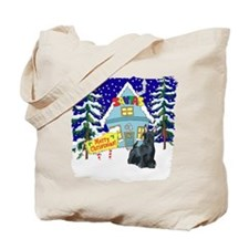 Santas Place Scottie Tote Bag