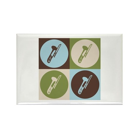 Trombone Pop Art Rectangle Magnet
