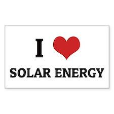 I Love Solar Energy Rectangle Decal