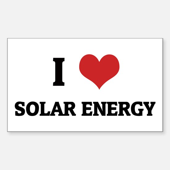 I Love Solar Energy Rectangle Decal