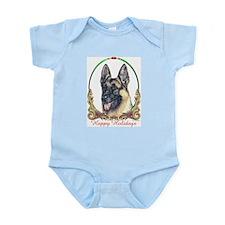 German Shepherd Holiday Infant Creeper