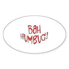 Bah Humbug Christmas Oval Sticker (10 pk)