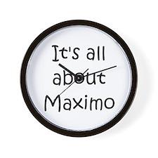Funny Maximo Wall Clock