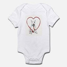 Love Your Bull Terrier Infant Bodysuit