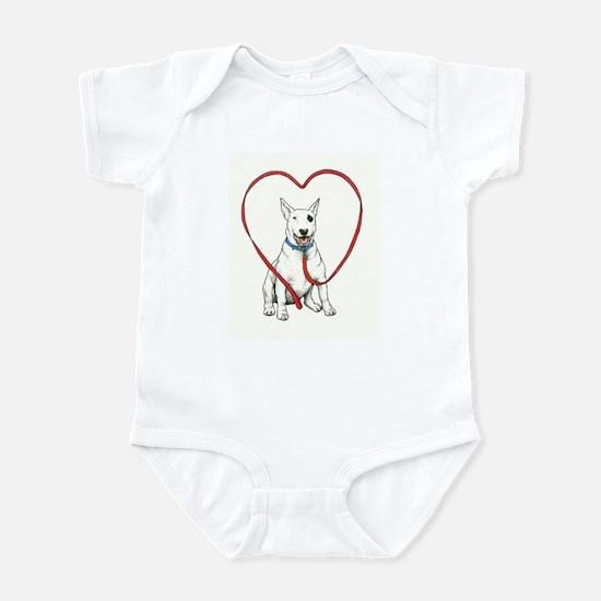 Love Your Bull Terrier Infant Bodysuit