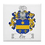 Riso Family Crest Tile Coaster