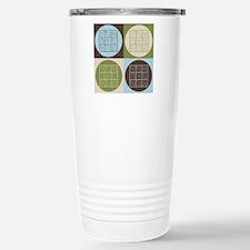 Sudoku Pop Art Stainless Steel Travel Mug
