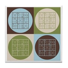 Sudoku Pop Art Tile Coaster
