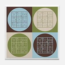 Sudoku Pop Art Tile Coaster