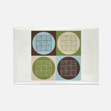Sudoku Pop Art Rectangle Magnet