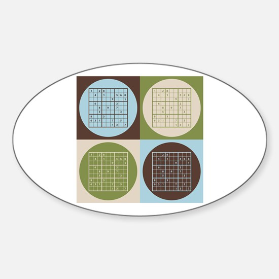 Sudoku Pop Art Oval Decal