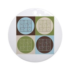 Sudoku Pop Art Ornament (Round)