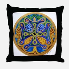 Armenian Tree of Life Cross Mandala Throw Pillow
