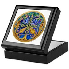 Armenian Tree of Life Cross Mandala Keepsake Box