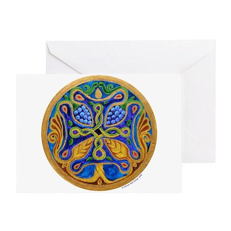 Armenian Tree of Life Cross Mandala Greeting Card