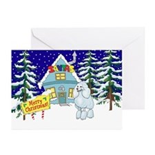 Santas Place Poodle Greeting Cards (Pk of 10)
