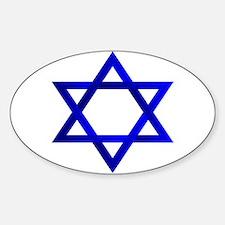 Star of David Oval Sticker (10 pk)