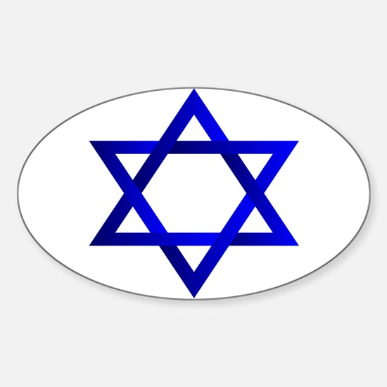 Star of David Oval Sticker (10 pk)