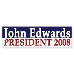 John Edwards President 2008 (bumper sticker)
