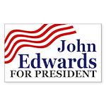 John Edwards for President (bumper sticker)
