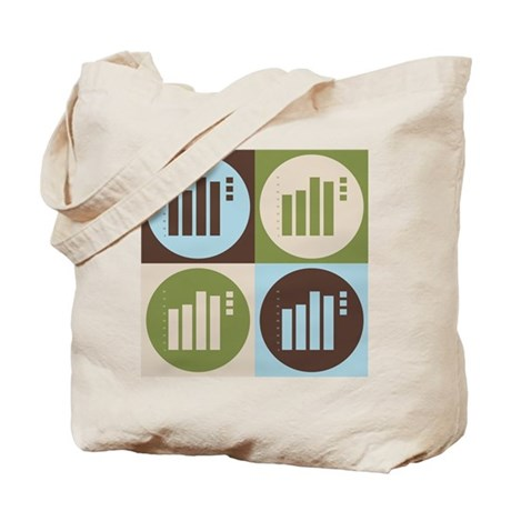 Statistics Pop Art Tote Bag