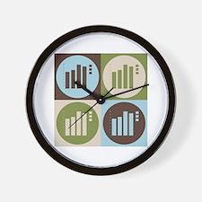 Statistics Pop Art Wall Clock
