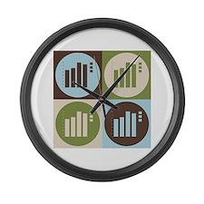 Statistics Pop Art Large Wall Clock