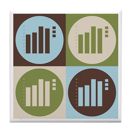 Statistics Pop Art Tile Coaster