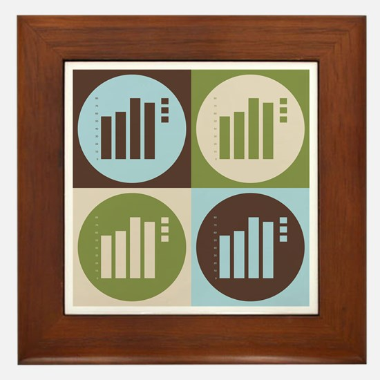 Statistics Pop Art Framed Tile