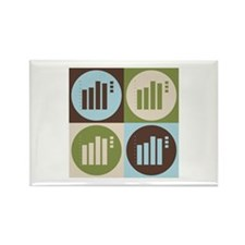 Statistics Pop Art Rectangle Magnet