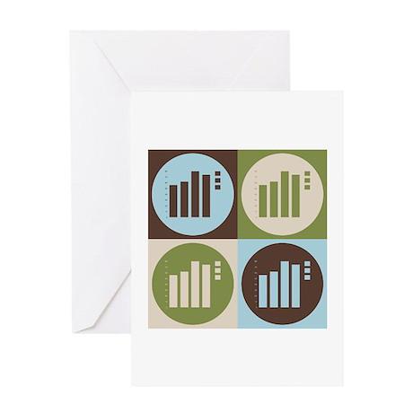 Statistics Pop Art Greeting Card