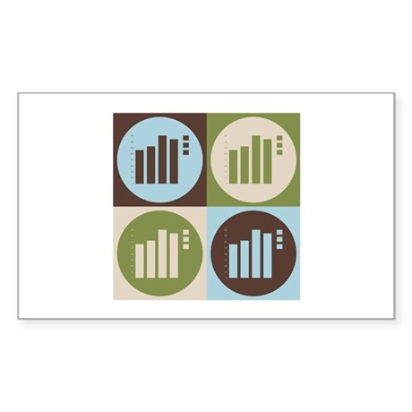 Statistics Pop Art Rectangle Sticker