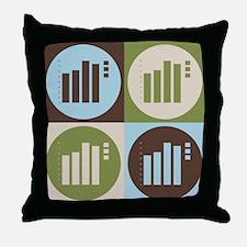 Statistics Pop Art Throw Pillow