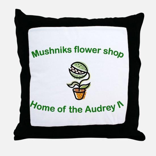 Mushniks Throw Pillow