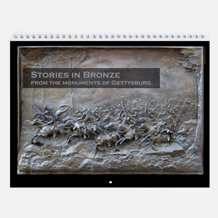 Stories in Bronze Civil War Wall Calendar