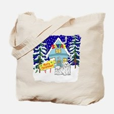 Santas Place Maltese Tote Bag