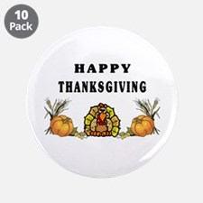 """Thanksgiving Holiday 3.5"""" Button (10 pack)"""