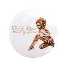 "Sexy Witch by Nature 3.5"" Button (100 pack)"