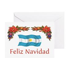 Argentine Feliz Navidad 2 Greeting Cards (Pk of 10
