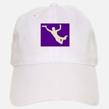 PAINTED PURPLE YELLOW DISC CATCH Baseball Baseball Cap