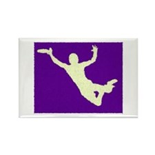 PAINTED PURPLE YELLOW DISC CATCH Rectangle Magnet