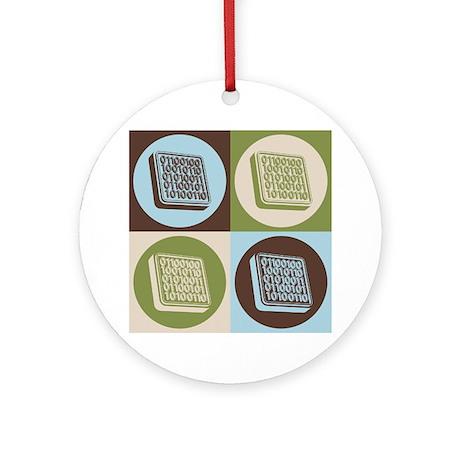 Software Engineering Pop Art Ornament (Round)