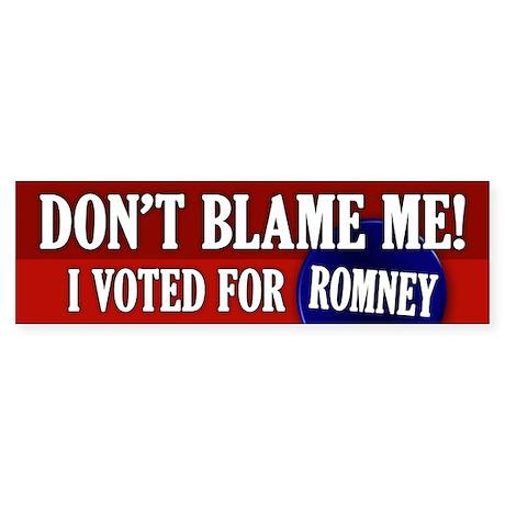 I voted for Romney Bumper Sticker
