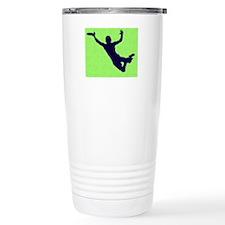 PAINTED GREEN BLUE DISC CATCH Travel Mug