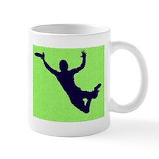 PAINTED GREEN BLUE DISC CATCH Mug