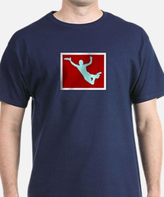 PAINTED RED WHITE DISC CATCH T-Shirt