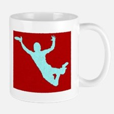 PAINTED RED WHITE DISC CATCH Mug